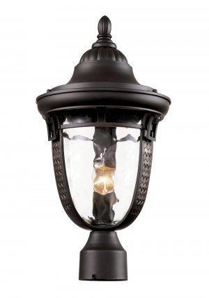 Trans Globe Oil Rubbed Bronze Outdoor Post Top Lantern 40223ROB