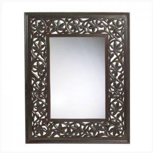Carved Leaf-Motiff Mirror - D