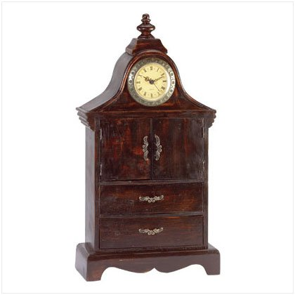 Clock-Topped Jewelry Box - D