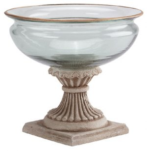 Gold & Glass Compote - D