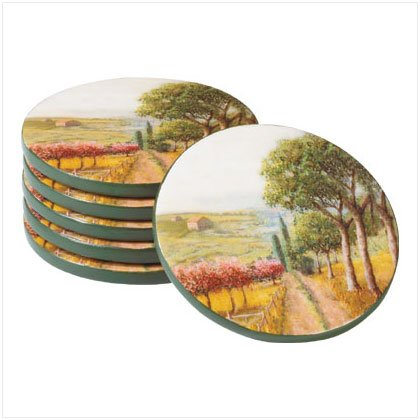 Tuscan-Inspired Coaster Set - D