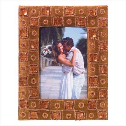 Brown Bejeweled Photo Frame