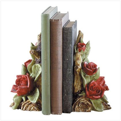 Rose Blossom Bookends - D