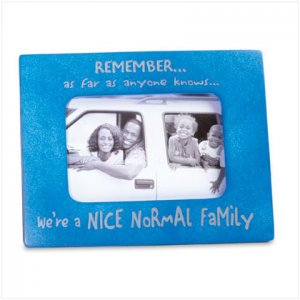 Anything But Normal Family Photo Frame - D