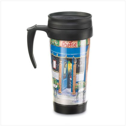 French Cafe Commuter Mug - D