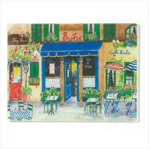 French Cafe Cutting Board - D
