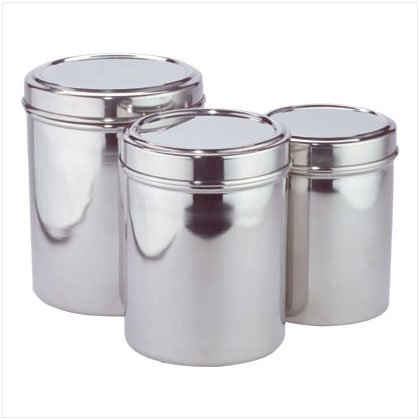 Stainless Steel Canisters - D