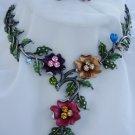fabuous enamel rhinestone necklace set