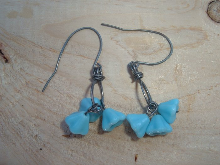 Sterling silver and flower bells