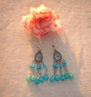Chandelier turquoise earrings