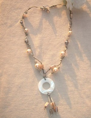 Black and pearled necklace