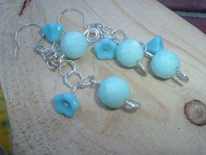 Loving blue earrings sterling silver and quartz