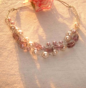 3 strands wire necklace