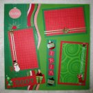 "Christmas ""Trim The Tree"" 2-Page 12x12 Premade Scrapbook Layout"