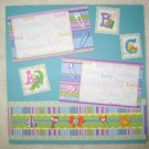 "Baby Girl ""ABC"" 2-Page 12x12 Premade Scrapbook Layout"