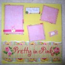Baby Girl - Pretty In Pink 2-Page 12x12 Premade Scrapbook Layout