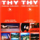 TURKISH AIRLINES - 1976 SUMMER TIMETABLE - RARE