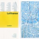 LUFTHANSA - LONDON STAR FOLD POCKET MAP