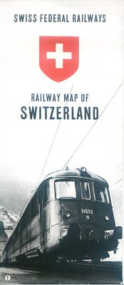 SWISS FEDERAL RAILWAYS - 1948 RAILWAY MAP OF SWITZERLAND
