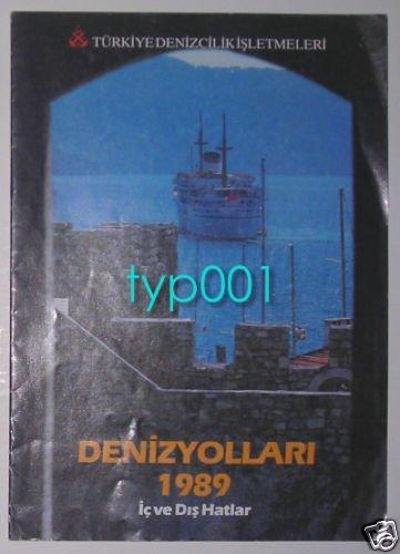 TURKISH MARITIME LINES - 1989 INTERNAL & EXTERNAL LINES SAILING SCHEDULE