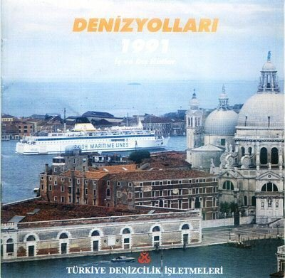 TURKISH MARITIME LINES - 1991 INTERNAL & INTERNATIONAL LINES SAILING SCHEDULES & TARIFFS