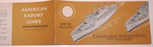 AMERICAN EXPORT LINES - 1962 - CONSTITUTION & INDEPENDENCE DECK PLANS