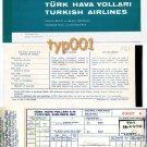TURKISH AIRLINES - 1969 SAMSUN-ISTANBUL TICKET - DARK TURQUOISE