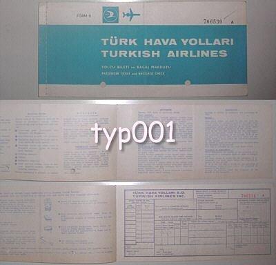 TURKISH AIRLINES - 1970 TICKET OF GANI TURANLI - CINEMA  -