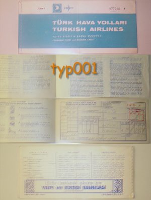 TURKISH AIRLINES - 1972 TICKET OF BEHIYE AKSOY - MUSIC - ANTALYA - ISTANBUL ONE WAY TICKET