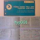 TURKISH AIRLINES - 1973 ISTANBUL - IZMIR ONE WAY TICKET - TURQUISE - RARE