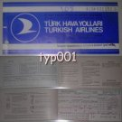 TURKISH AIRLINES - 1975 ERZURUM - ANKARA ONE WAY TICKET - BLUE