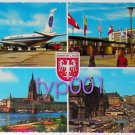 PAN AMERICAN WORLD AIRWAYS - 1969 B-707 FOUND THE FRANKFURT AIRPORT MULTIVIEW POSTCARD