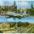 PAN AMERICAN WORLD AIRWAYS - 1969 B-707 LOST OVER FRANKFURT MULTIVIEW POSTCARD