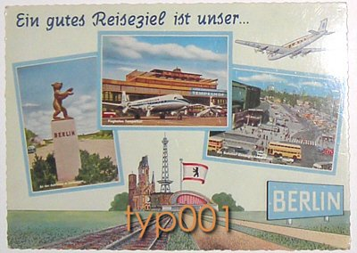 PAN AM - 1950s AT BERLIN AIRPORT POSTCARD