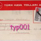 TURKISH AIRLINES - 1980 CARGO NOTICE POSTCARD