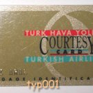 TURKISH AIRLINES - COURTESY BAGGAGE ID CARD OF THE WORLD RENOWNED CARTOONIST OGUZ ARAL (1936-2004)