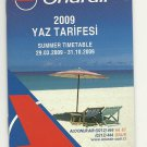 ONUR AIR - TURKEY - 2009 SUMMER TIMETABLE