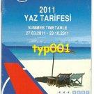 ONUR AIR - TURKEY - 2011 SUMMER TIMETABLE