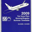 SUNEXPRESS AIRLINES - TURKISH - 2009 SUMMER SYSTEM TIMETABLE