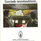 DEDEMAN HOTELS - PLANE DIVING ON THE HOTEL - TURKISH PRINT AD
