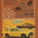 TOYOTA - 1976 NEW COROLLAS OR BACARDI  ENJOY RUM & COCA COLA -  PRINT AD