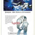 CHRISTIAN BERNARD WATCHES - LIGHTNING A WORLD LEGEND - TURKISH PRINT AD