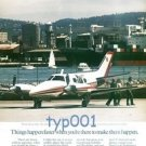 BEECHCRAFT - 1980 THINGS HAPPEN FASTER - THE BEACHCRAFT DUKE AIRCRAFT - PRINT AD