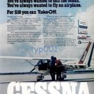 CESSNA PILOT CENTER - 1977 - FOR $10 YOU CAN TAKE OFF - PRINT AD