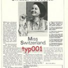 SWISSAIR - 1969 - SWISSAIR INTRODUCES: MISS SWITZERLAND - PRINT AD