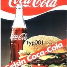 COCA COLA TURKEY 1986 - GELSIN COCA COLA - A COKE  OVER HERE - TURKISH PRINT AD