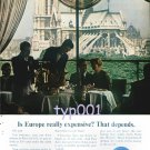 PAN AM - 1964 - IS EUROPE THAT EXPENSIVE? - PRINT AD
