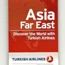 TURKISH AIRLINES - 2011 ASIA FAR EAST WORLD DESTINATIONS POCKET ROUTE MAP