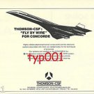 THOMSON CSF - 1972 - FLY BY WIRE FOR CONCORDE PRINT AD