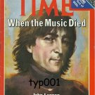 TIME MAGAZINE INT'L EDITION DEC 22, 1980 - IN MEMORY OF JOHN LENNON - COVER ONLY - NO LABEL